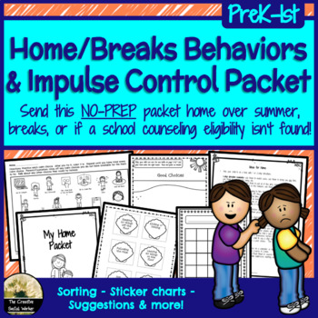 Home, Summer, & Breaks Behaviors/Impulse Control Packet
