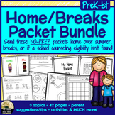 Home, Summer, Breaks Counseling Packet Bundle