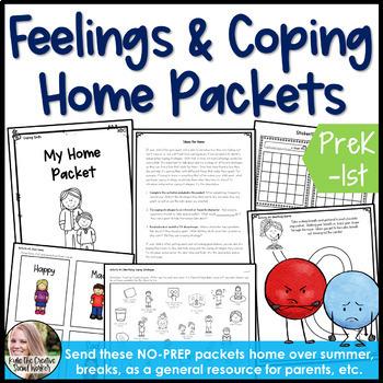 Home, Summer, & Breaks Feelings/Coping Packet
