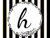 Home Sweet Classroom Black and White Striped Posters