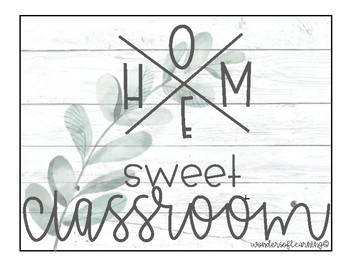 Home Sweet Classroom - Farmhouse Weathered Wood & Green