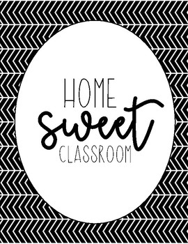 Home Sweet Classroom Poster (8 Background Options)