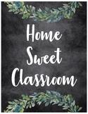 Farmhouse Decor: Home Sweet Classroom Sign