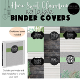 Farmhouse EDITABLE Binder Covers and Spines -Home Sweet Classroom