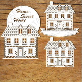 Home Sweet Home (1) SVG files for Silhouette Cameo and Cricut.