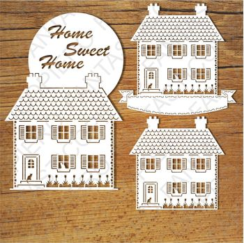 Home Sweet Home (2) SVG files for Silhouette Cameo and Cricut.