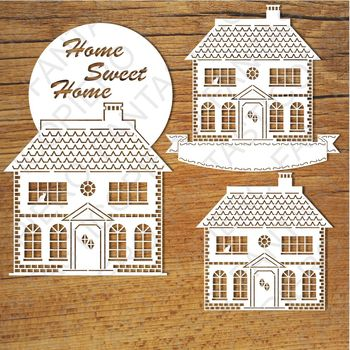 Home Sweet Home (3) SVG files for Silhouette Cameo and Cricut