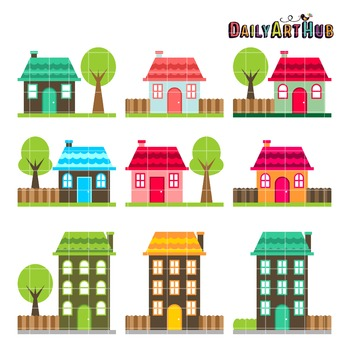 Home Sweet Home Clip Art - Great for Art Class Projects!