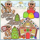 Home Sweet Home Gingerbread Clip Art - Christmas Clip Art - CU Clip Art & B&W