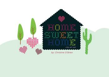 Home Sweet Home / Homes Around the World Clip Art Set