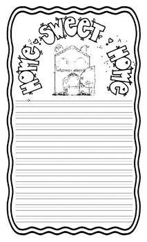 Home Sweet Home Writing Paper