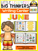 Writing Center June (16 Writing Activities and 324 picture cards)