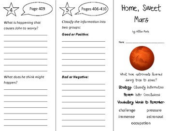 Home Sweet Mars Trifold - 3rd Grade Literacy by Design Theme 12