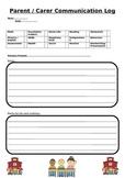 Home/ Teacher communication log