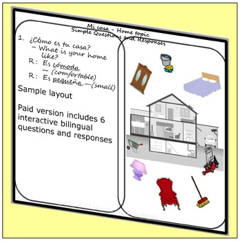 Home Topic Simple Question and Response Prompt Card