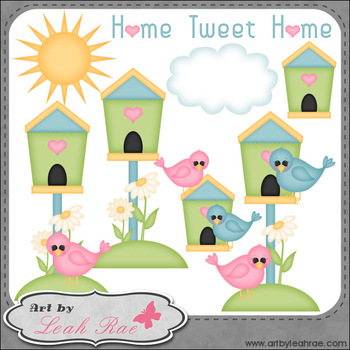 Home Tweet Home 1 - Art by Leah Rae Clip Art & Line Art /