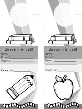 {Freebie} English and Spanish Home Visit Door Hangers