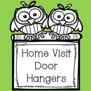 {Freebie} English and Spanish Home Visit Door Hangers