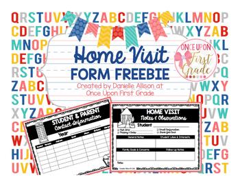 Home Visit Form FREEBIE
