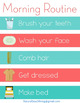 Home Visual Schedule Printables - Morning and Night Routines