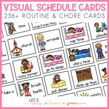 image relating to Free Printable Visual Schedule for Home identified as Visible Timetable/Schedule/Chore Chart for Youthful Youngsters