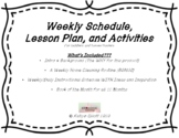 Home Weekly Learning Template Ready to Print! / ESE/Homesc