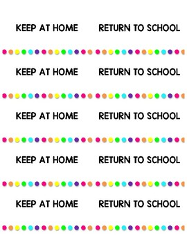 Home Work Folder Labels Rainbow Bright