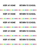 Home Work Folder Labels Rainbow Bright