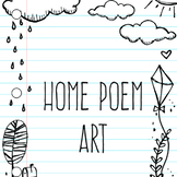 Home Writing Paper Background Art