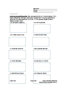 Home and Rooms Packet - Level One Spanish