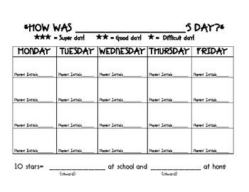 Home and School Behavior Plan