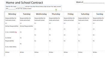 Home and School Contract