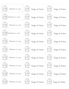 Home and School Labels in Spanish and English