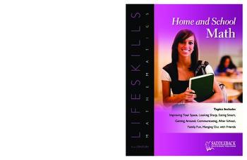 Home and School Math (21st Century Lifeskills Mathematics)