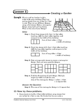 Home and School Math: After School-Creating a Garden