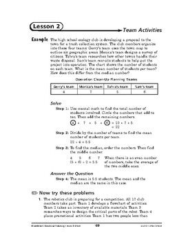 Home and School Math: After School-Team Activities