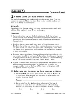 Home and School Math: Communicating-Communicate!
