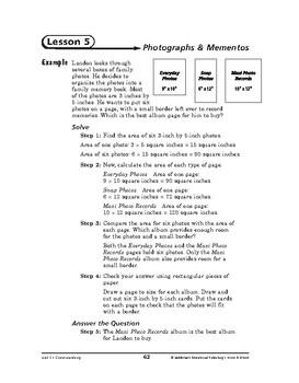 Home and School Math: Communicating-Photographs & Mementos