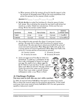 Home and School Math: Eating Smart-At the Buffet