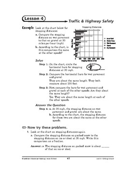 Home and School Math: Getting Around-Traffic & Highway Safety