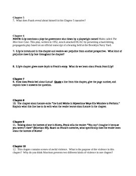 Home (by Toni Morrison) Study and Reflection Questions/Guide