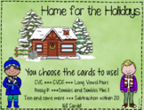 Home for the Holidays ~ CVC, CVCE, Bossy R, Long Vowel Pairs, Add /Sub within 20