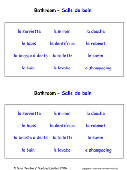 Home in French Worksheets