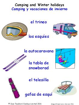 Home in Spanish Matching Activities