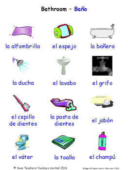 Home in Spanish Word searches / Wordsearches