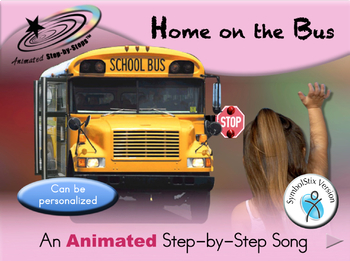 Home on the Bus - Animated Step-by-Step Song - SymbolStix