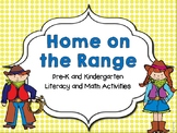 Home on the Range Pre-K and K Literacy and Math Activities