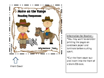 Home on the Range- Reading Responses for Informational Texts