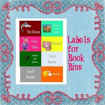 EDITABLE Classroom Library Label Organization System