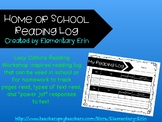 Home or school reading log reading workshop inspired